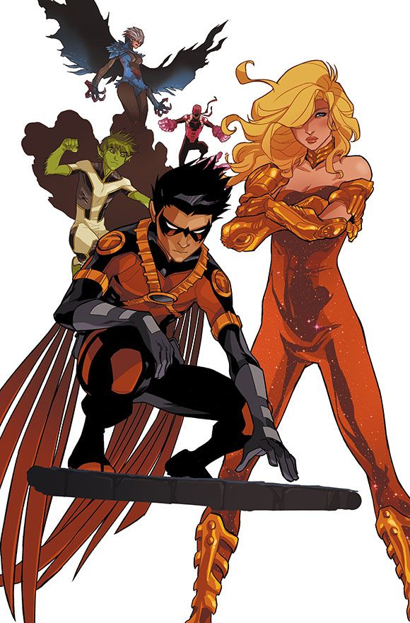 TEEN TITANS: FUTURES END 1 Cover art by Karl Kerschl