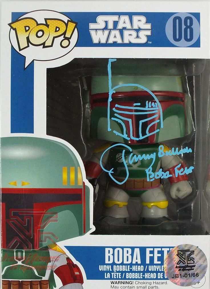 Limited Edition of 66 Boba Fett Funko Pop! Signed by Jeremy Bulloch with Doodle - Available At Kool Toys & Games