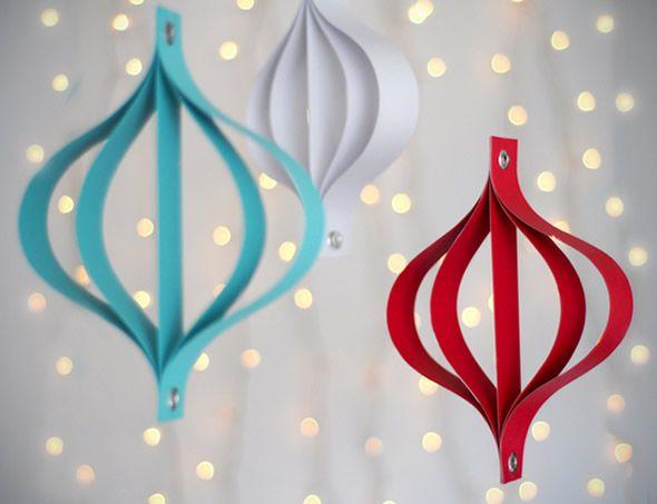 Lindo enfeite barato e fácil de fazer com papel para a Árvore de Natal | Como fazer em casa Artesanato