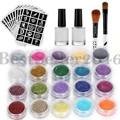 (Advertisement) Gillter Body Art 24 Colors Temporary Tattoo Makeup Kit Set Body …