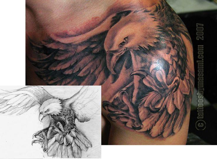 Design By Tattoo Ideas Eagles Back Tattoo Eagles Tattoo Shoulder