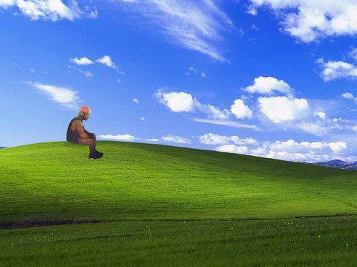 "The one where Kanye is stuck in Windows XP. | The 18 Best ""Sad Kanye West"" Zipline Memes"