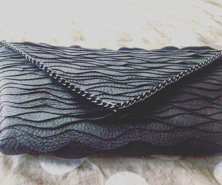 Handmade WAVE handbag by S U Z I E ideas  black imitation leather