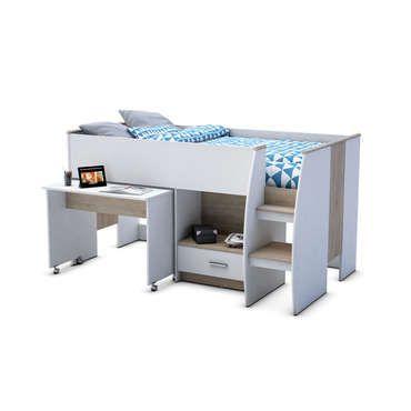 lit sur lev 90x190 cm chambres pinterest lights. Black Bedroom Furniture Sets. Home Design Ideas