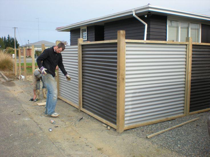 CORRUGATED METAL FENCE PANELS | FENCES                                                                                                                                                     More