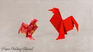 gallitos origami