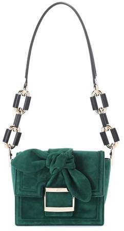3c08449e4928 Roger Vivier Viv  Mini Bow suede shoulder bag