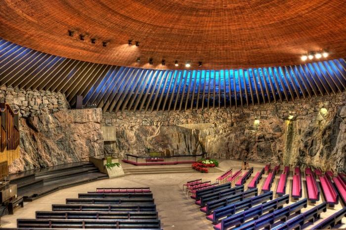 Temppeliaukion kirkko (Rock Church), Finland