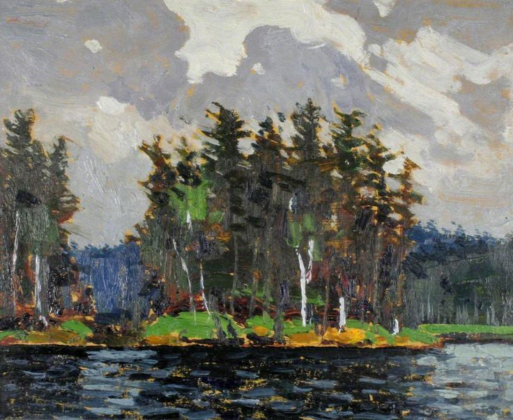 Tom Thomson - Art Nouveau, Arts&Crafts & Post Impressionnism - Pine Country, 1916