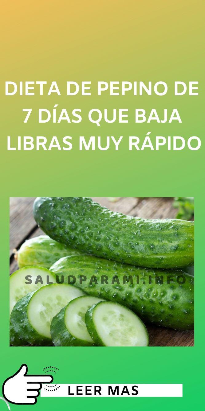 Dieta De Pepino De 7 Días Que Baja Libras Muy Rápido Salud Para Mi Dieta Dieta Del Limon Licuados Para Bajar De Peso
