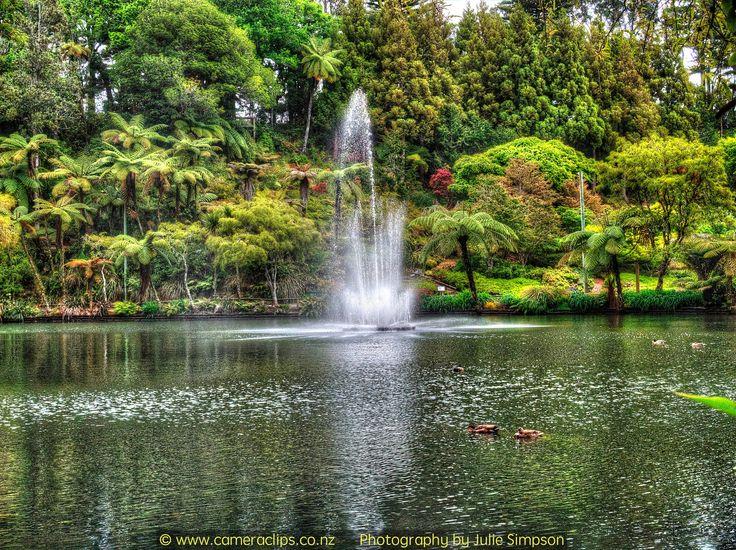 https://flic.kr/p/GwVyjV | Fountain at Pukekura Park, New Plymouth, NZ