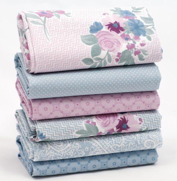 Bundle 5 fat quarters pretty pink florals  100/% cotton