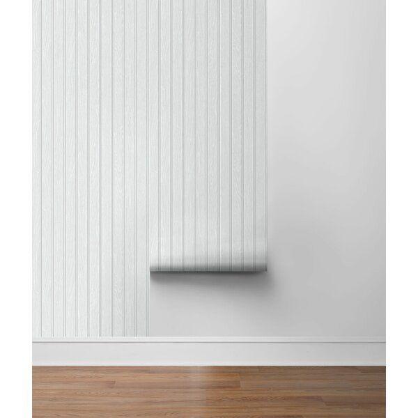 Beadboard 18 L X 20 5 W Peel And Stick Wallpaper Roll In 2021 Peel And Stick Wallpaper Beadboard Wallpaper Beadboard