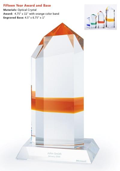 Microsoft 15 Year Service Award Brand Mania Pinterest