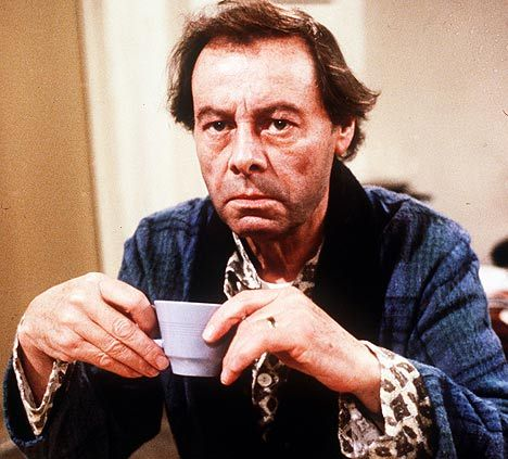 Arthur Fowler drinking #tea on the British soap opera Eastenders.