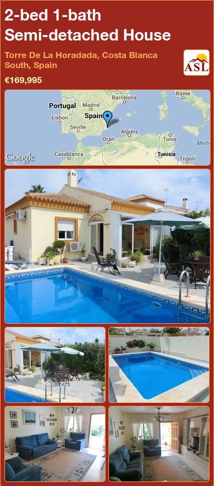 2-bed 1-bath Semi-detached House in Torre De La Horadada, Costa Blanca South, Spain ►€169,995 #PropertyForSaleInSpain