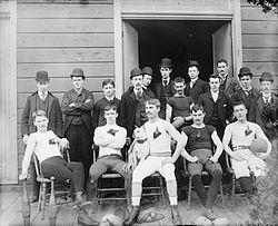 An early American football team, from the turn of the twentieth century (History of American football - Wikipedia, the free encyclopedia)