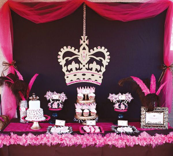 Leopard pink princess party ideas   girls party ideas and inspiration     #princess