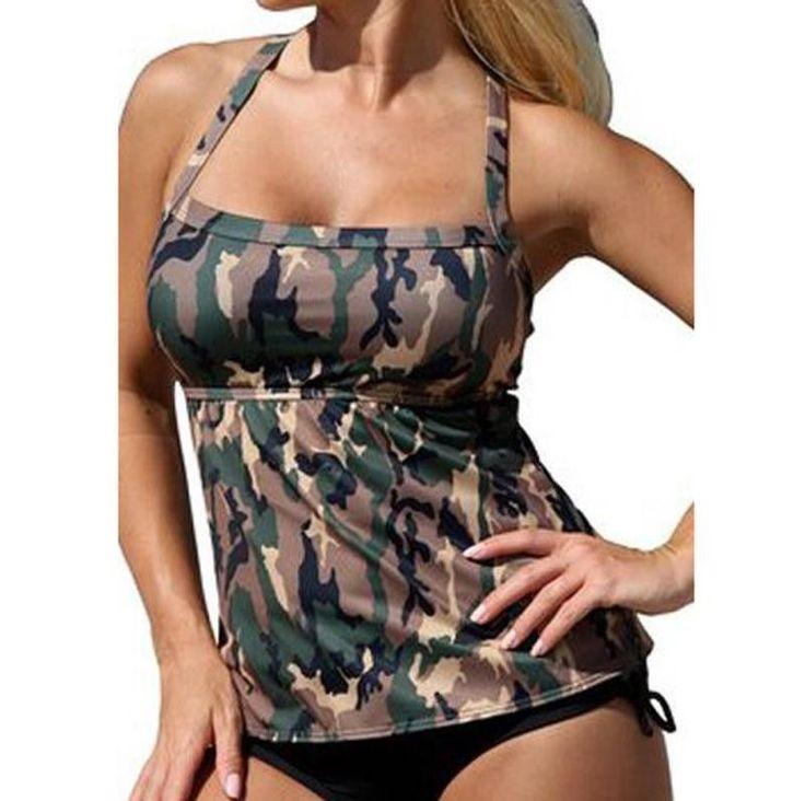 ladies' swimwear swimming suit for women bikini Camouflage Beach Bikini Swimsuit Women Sexy bathing suit women push up tankiny