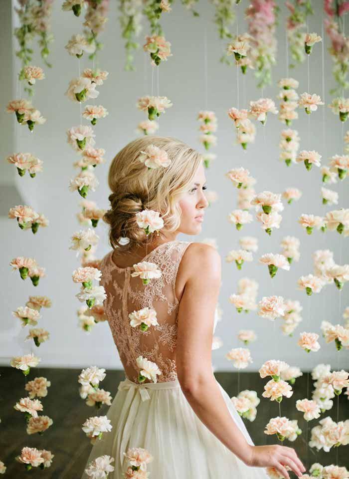 Inspiração: Cortina de flores | http://www.blogdocasamento.com.br/inspiracao-cortina-de-flores/