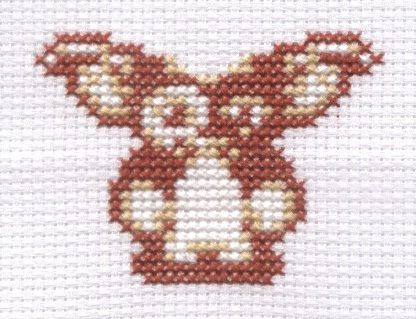 Gizmo from Gremlins cross stitch by ~Lil-Samuu on deviantART
