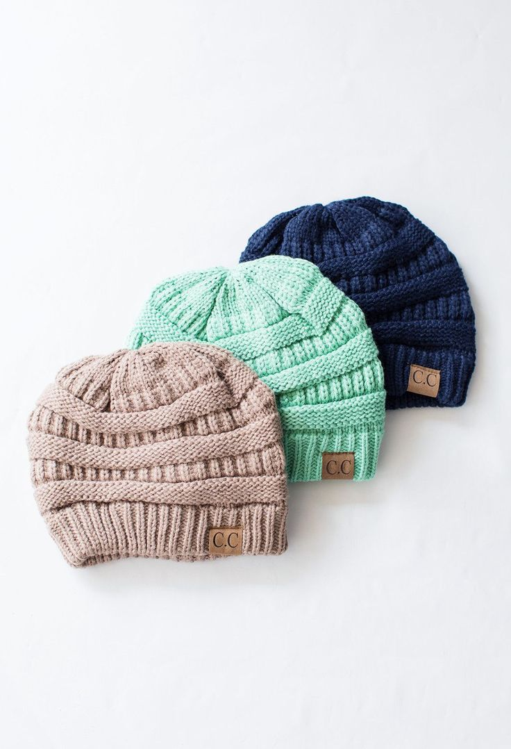 CC Beanie for fall - we have them in almost eery color! Fall fashion.