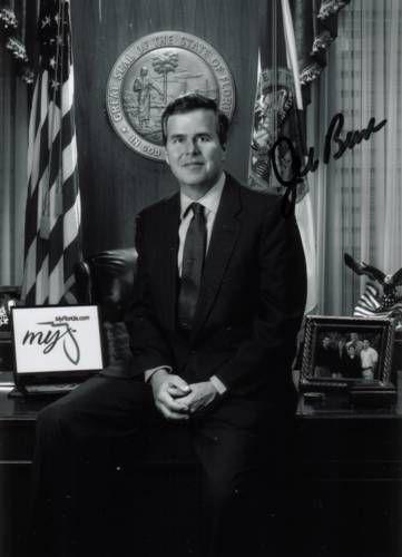 Sobiraloff.ru / Автографы / Джеб Буш.  Губернатор Флориды, брат Президента США Джорджа Буша-мл.