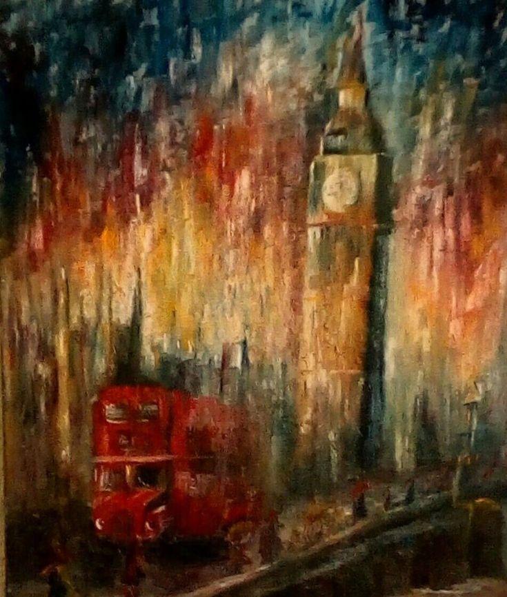 "'Big Ben - London' Original Oil Painting 24"" x 20"""