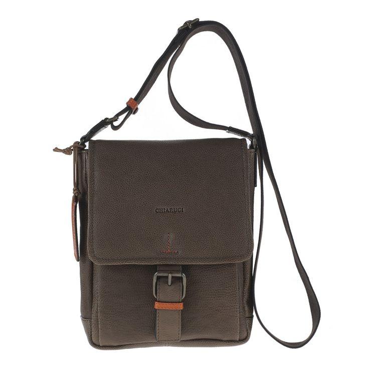 CHIARUGI - Borsa Tracolla in pelle Unisex 22606 brw #leatherbag