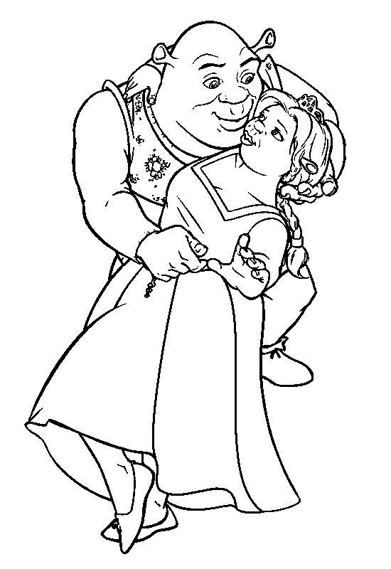18 best Shrek Coloring Pages images on Pinterest Shrek