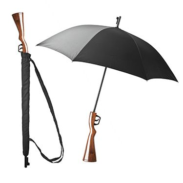 Paraguas Wanted de color negro