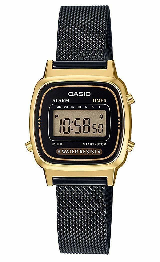 Casio Montre Casio Collection Maille Milanaise Noire La670wemb 1ef Montre Casio Idees De Montre Casi Casio Watches Women Fashion Swiss Military Watches