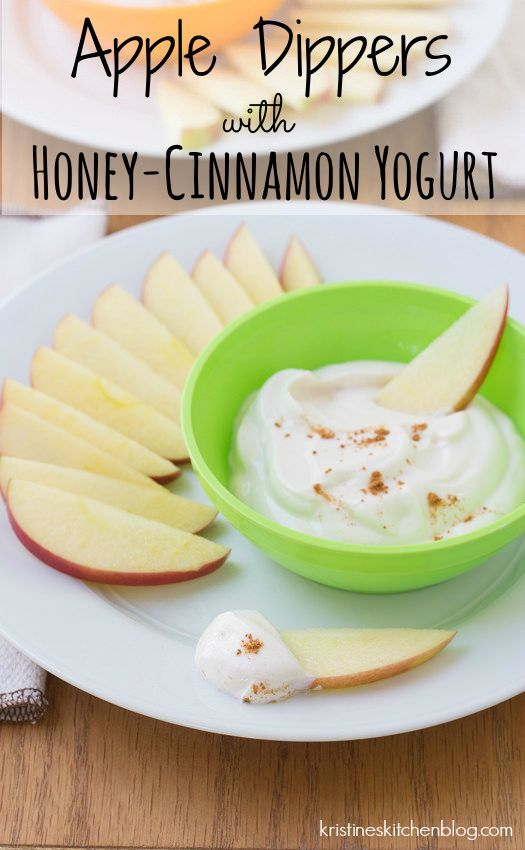 Apple dippers with honey-cinnamon yogurt