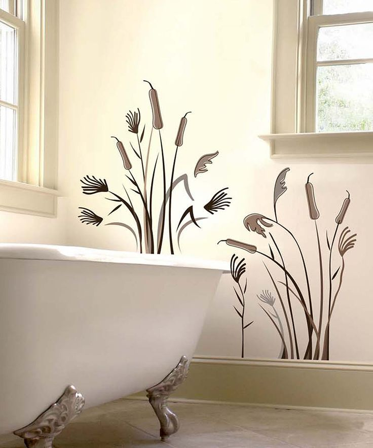 Brown Cattail Wall Decal Set | Daily deals for moms, babies and kids