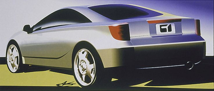2000 Toyota Celica - concept sketch