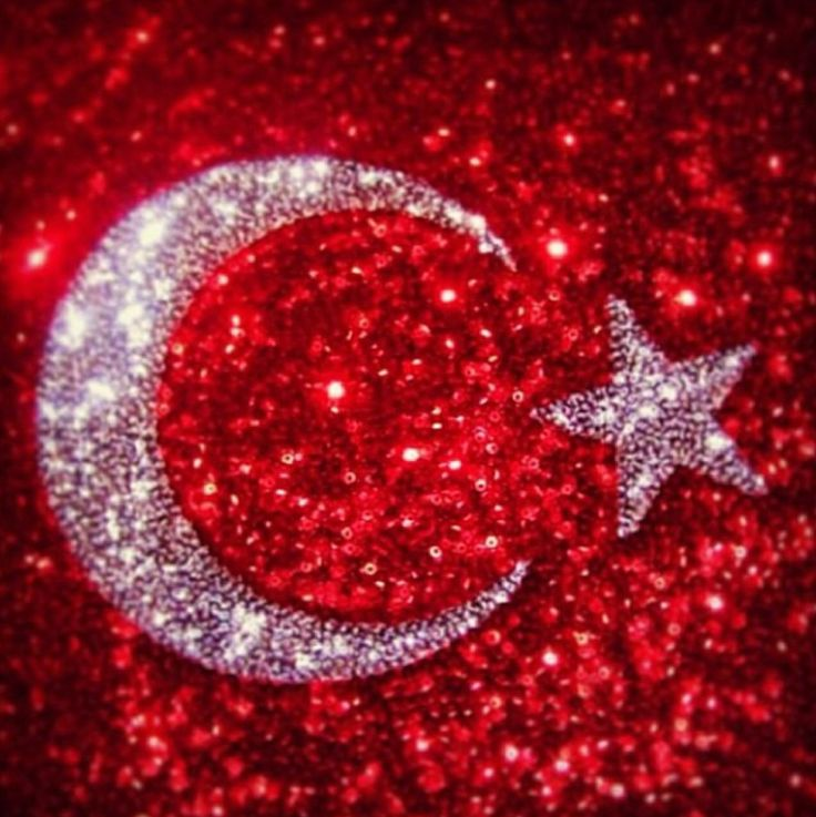 Pul payet Ay yıldız Türk bayrağı