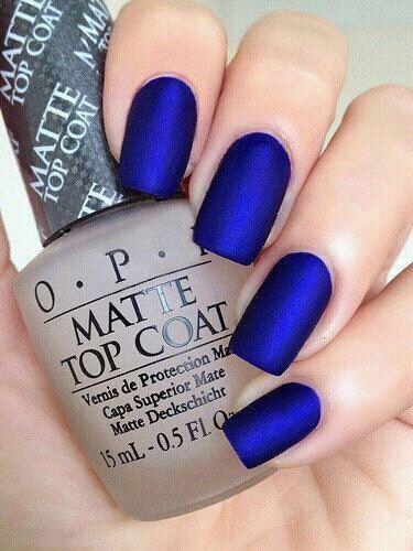 C'est si beau vernis bleu mat opi