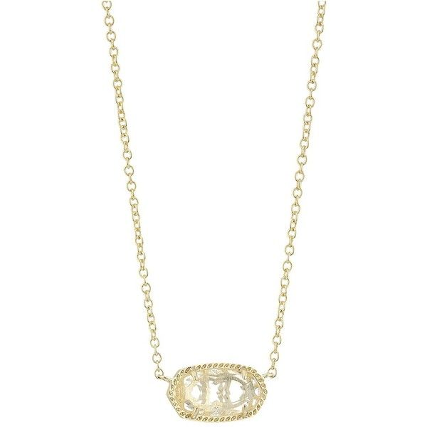 Kendra Scott Elisa Birthstone Necklace (April/Gold/Clear Crystal... ($50) ❤ liked on Polyvore featuring jewelry, necklaces, gold chain necklace, glass pendant necklace, yellow gold necklace, gold pendant necklace and kendra scott necklace