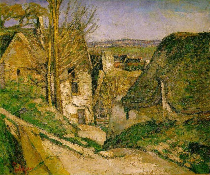 """Paul Cézanne """"La casa dell'impiccato a Auvers"""", 1873. Muséè d'Orsay, Parigi."""