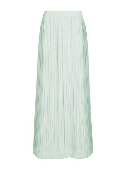 MANGO - Pleated chiffon long skirt