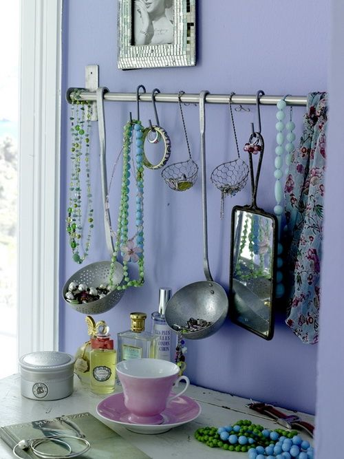 Okay, that's SO cute!  Note: metal touching metal can cause tarnishing, suggest coat of clear or colored paint on hanger items