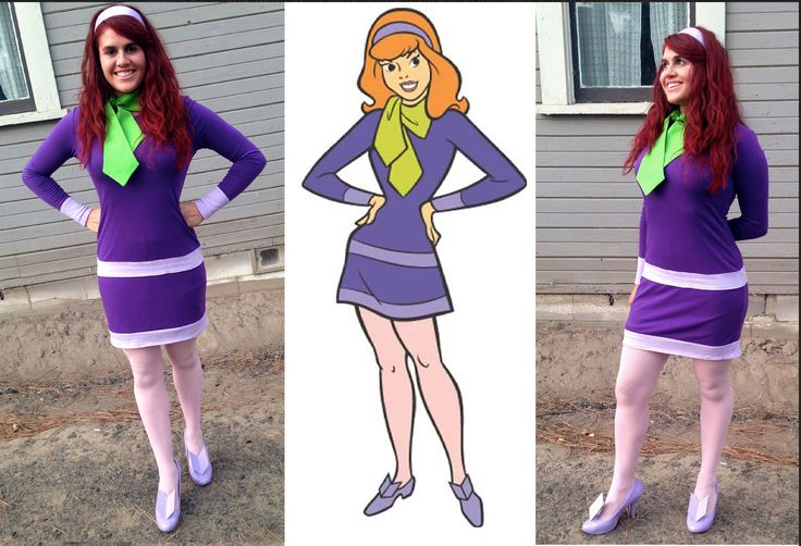 My DIY Daphne Costume from Scooby Doo....All the items were found at thrift stores or ordered online. :)