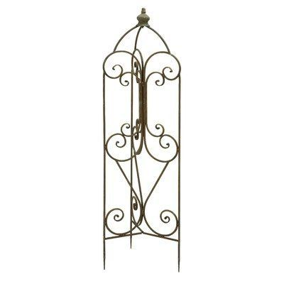 Garden Trellis by Woodland Imports. Save 26 Off!. $48.25. 52928 Features: -Design with intricate and fine detailing. Color/Finish: -Finish: Bronze.
