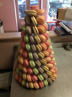 pastel macarons pyramid