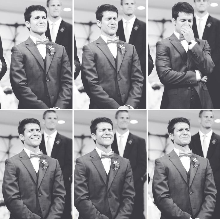 The groom seeing the bride for the first time!