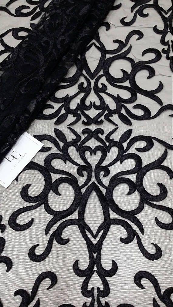 Häkelspitze schwarz 150cm