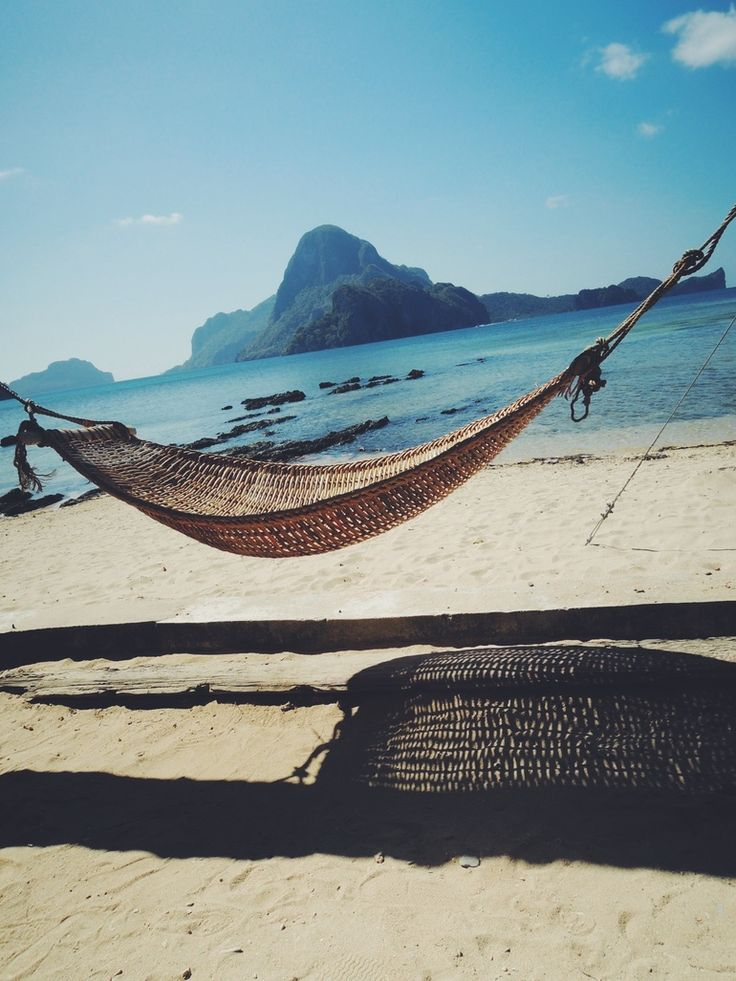 Oh man I can see myself rocking on the hammock... The smell of the ocean, sand in my toes.