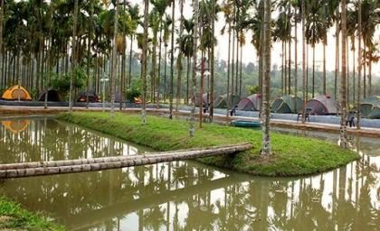 Tents at The Hill District Club, Kerala, India