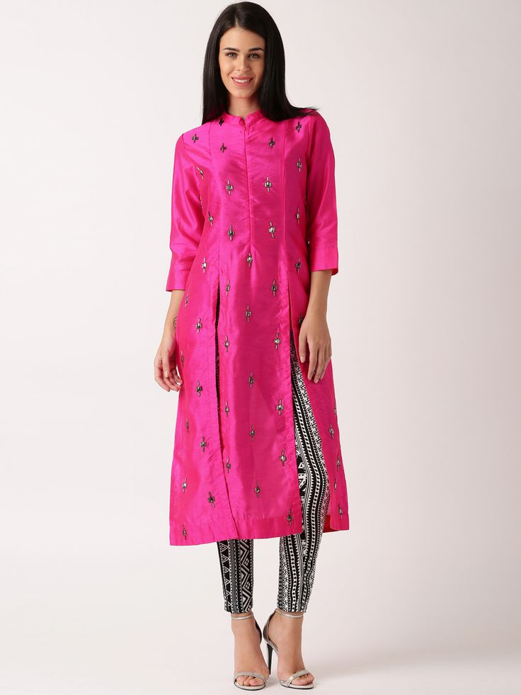 Buy IndusDiva By Neeta Lulla Pink Silk Churidar Kurta -  - Apparel for Women from IndusDiva at Rs. 5999
