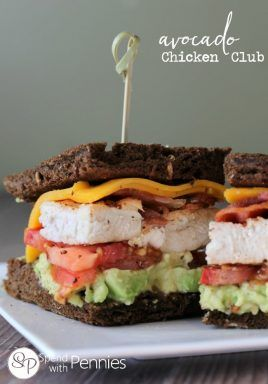 California Avocado Chicken Club Sandwich